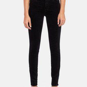 J BRAND super skinny black velveteen jeans 30